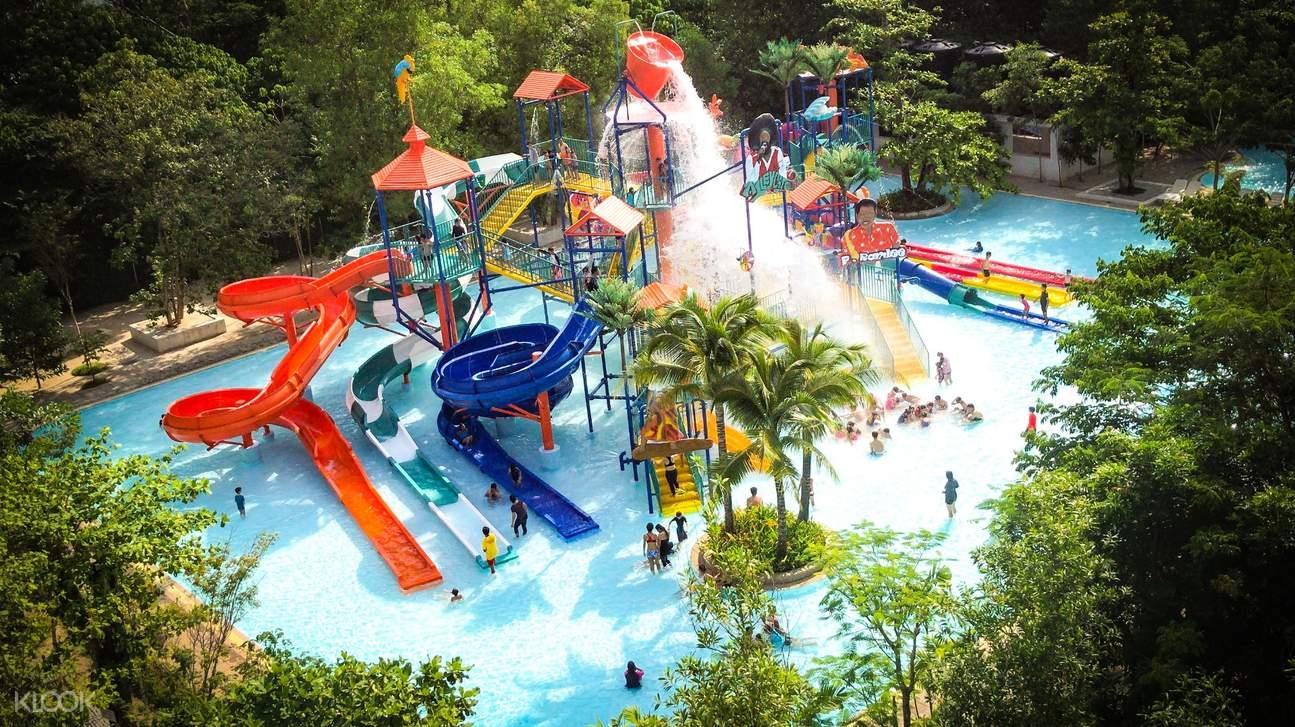 arial view of escape theme park